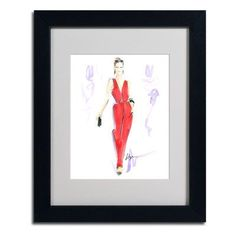"Trademark Art ""Red Hot"" by Jennifer Lilya Framed Painting Print Size:"