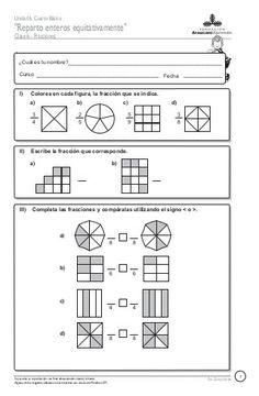 67332002 fracciones-italo[1] Math 5, Math Class, Teaching Math, Math Education, Fractions Worksheets, Body Organs, Algebra, Reading Comprehension, Math Activities