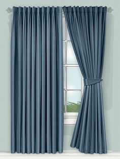 here deep rich blue teal colour is beautifully suited to the luxurious and oh so lovely faux silk fabric. Positively oozing gorgeousness we think this curtain will look stunning at the window... #faux #silk #curtain