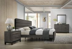Shop for Ioana 187 Antique Grey Finish Wood Bed Room Set, Queen Size Bed, Dresser, Mirror, Night Stand. Get free delivery On EVERYTHING* Overstock - Your Online Furniture Shop! Get in rewards with Club O! Canopy Bedroom Sets, 5 Piece Bedroom Set, Bedroom Furniture Sets, Master Bedroom, Furniture Layout, Master Suite, Vintage Furniture, Bedroom Ideas, Furniture Deals