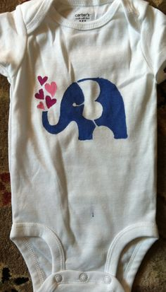 Hand Painted Onesies On Pinterest Onesies Stencil And