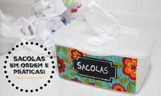 Sacolas plásticas organizadas
