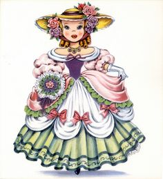 Vintage Stationery Note Card - England Girl Doll in Traditional Dress - Dolls of Many Lands Vintage Pictures, Vintage Images, Vintage Dolls, Vintage Paper, Old Cards, Vintage Greeting Cards, Vintage Birthday Cards, Vintage Postcards, Hallmark Cards