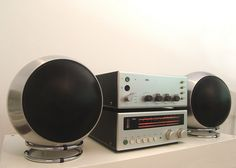 Braun CSV300 & CE500 & Telefunken TL1000 side. Design by Dieter Rams. (1970/1966) and a pair of Telefunken TL1000 Ball Speaker (1976-1978)