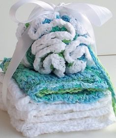"CROCHET SPA SET ""SEA"