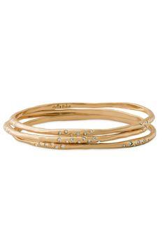Stella & Dot Gold Rhea Bangles | Gold Bangle Bracelets with Czech Stones perfect for a #SDarmparty | #StellaDotStyle | Stella & Dot | Find it at www.stelladot.com