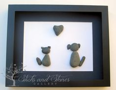 Personalized Animal Lover's Christmas Gift - Animal Themed Art - Pebble Art - Cats and Dogs on Etsy, $75.00 CAD