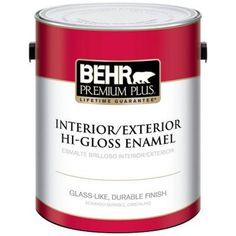 BEHR Premium Plus 1-gal. Ultra Pure White Hi-Gloss Enamel Interior/Exterior Paint-805001 at The Home Depot