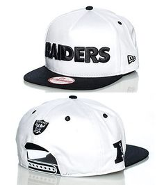 NEW ERA Oakland Raiders NFL snapback cap Adjustable strap on back RAIDERS logo on front