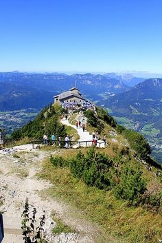 Hitler's Eagle's Nest - atop Kehlstein Mountain in Obersalzburg, Germany. Spectacular views of Germany, Austria, Switzerland and Italy.