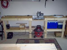 Miter Saw Bench, i like the place for the shop vac, handy
