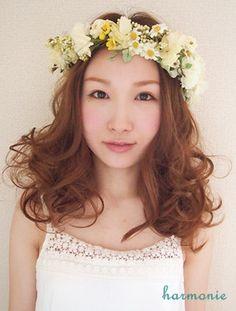気になる!花冠とヘアスタイルの相性✩ の画像|大人可愛いブライダルヘッドドレス&花冠【harmonie~アルモニ~】