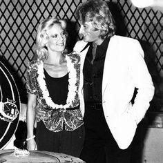 Johnny Hallayday et Sylvie Vartan le 19/06/1979. Les 36 ans de Johnny