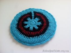 Navajo Inspired Turquoise Pot Holder Crocheted by NizhoniYarnWorks