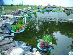 DIY Floating islands for your pond