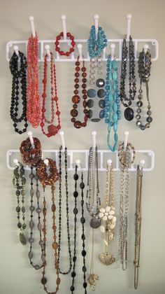 I am very proud of myself for finally coming up with a solution for storing my bulky jewelry pieces!