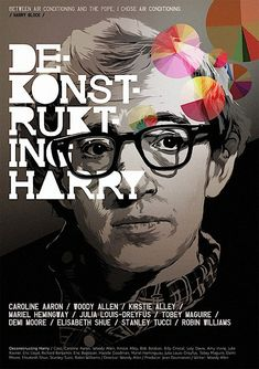 Woodly Allen's Deconstructing Harry. Movie poster by Polish illustrator Grzegorz Domaradzki.