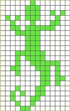 Lizard Graph for cross stitch Small Cross Stitch, Cross Stitch Bird, Cross Stitch Animals, Cross Stitching, Cross Stitch Embroidery, Bead Loom Patterns, Beading Patterns, Cross Stitch Patterns, Pixel Crochet