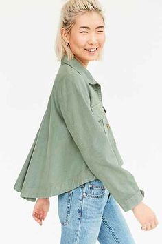 BDG Olivia Swing Shirt Jacket - Urban Outfitters