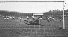 8th June 1958. England winger Tom Finney scores a penalty two minutes from time to secure a 2-2 with the USSR in a Group 4 Game 1 match, in Gothenburg.
