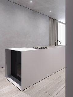 Indian Home Interior Warsaw Home by Tamizo Architects Interior Design Kitchen, Modern Interior, Interior Architecture, Black Kitchen Cabinets, Black Kitchens, Kitchen Appliances, Küchen Design, House Design, Design Hotel