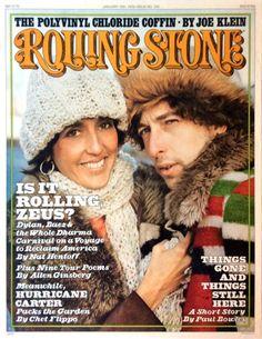 BOB DYLAN Joan Baez Promo Poster ROLLING STONE MAGAZINE 1976 Rolling Thunder Rev