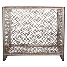 industrial strength gym basket from high school locker room | 1stdibs.com - Cool bedside table for a teen room with Top on it.