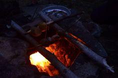 potatoes on fire