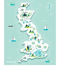 Whistles Treasure Map #Map #Illustrations