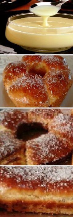 Como Hacer Pan de Navidad rellena con leche condensada y coco.  #panettone #panetone #pandulce #paneton #navideño #navidad #navideña #merrychristmas #postres #cheesecake #cakes #pan #panfrances #panes #pantone #pan #recetas #recipe #casero #torta #tartas #pastel #nestlecocina #bizcocho #bizcochuelo #tasty #cocina #chocolate   Si te gusta dinos HOLA y dale a Me Gusta MIREN... Authentic Mexican Desserts, Mexican Food Recipes, Sweet Recipes, Special Bread Recipe, Cooking Chef, Cooking Recipes, Bread Recipes, Cake Recipes, Sweet Dough