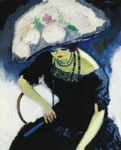 5 -- 1910 Kees Van Dongen F au Chapeau de Roses Sotheby's N Art Fauvisme, Maurice De Vlaminck, Art Amour, Raoul Dufy, Dutch Painters, Art Et Illustration, Dutch Artists, Art Moderne, Henri Matisse
