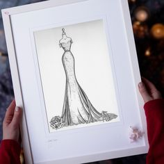 How would you like to unwrap your own custom Wedding Dress Sketch on Christmas morning? Even if you drop a hint for this gift you'll still be surprised on the Christmas morning, as every illustration is lovingly made-to-order and is unique to YOU. Limited spaces for Christmas delivery. www.weddingdressink.com/shop/wedding-dress-sketch #christmasgift2020 #irishchristmasgift #artforchristmas #weddingdressink #lovecustomgifts #shopirish #irishartgift #fashionlover #fashiongirl #fashiongiftidea