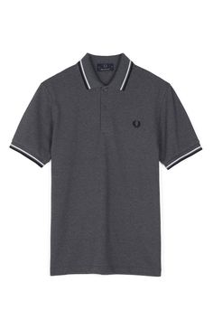 Fred Perry - M12 Graphite Marl / White / Black