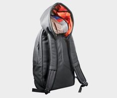 Hoodie Backpack.   Not the only hybrid of smart concept and beautiful design that Hussein Chalayan has designed for Puma this year.