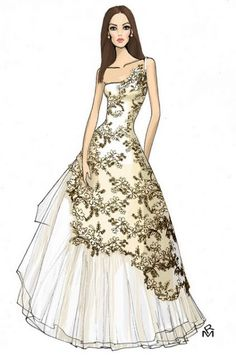 illustration of wedding dress
