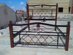 Gazoly Egypt Iron Furniture, Diy Outdoor Furniture, Bed Frame Design, Bed Design, Wrought Iron Gate Designs, Home Window Grill Design, Steel Bed Frame, Front Gate Design, Iron Wall Decor
