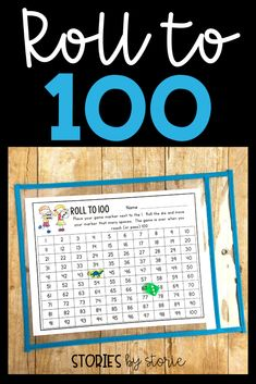 Roll to 100 is a dice game that students can play independently or with a partner. This would be a great activity for students to complete during math workshop while the teacher meets with a small group. This dice games pack includes other games, too!