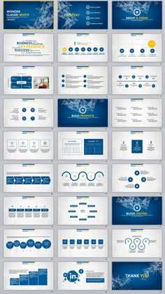 27+ Blue Business Report PowerPoint Templates