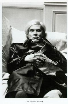 Andy Warhol,Paris 1974 by HELMUT NEWTON