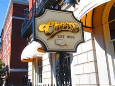Cheers, Boston  Where everyone knows your name   Go to Cheeahs and have a beeaah
