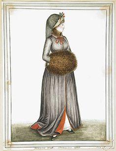 Morning Dress, December 1800 by Ann Frankland Lewis