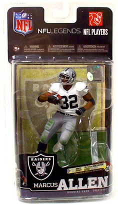 WANT:  McFarlane Toys NFL Sports Picks Legends Series 6 Action Figure Marcus Allen (Oakland Raiders) White Jersey Silver Collector Level Chase Only 1,000 Made!