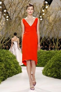 Chic Hot Red dress #MyFavorite @Dior Christian Dior Spring Summer Couture 2013 #Fashion