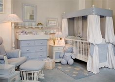 Nursery room decore.  Too busy but like softness.