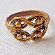 Vintage Kalevala Koru Finland Teljänneito Bronze Ring Diam. 18 mm #KalevalaKoru