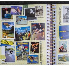 #Scrapbook section in the #trackerbook . Order the gnarly 388-page coffee table book TRACKER - Forty Years of Skateboard History at top profile link @trackertrucks
