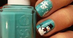 Winter nails, Snowman and Nails on Pinterest