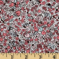 Amazon.com: Michael Miller Out To Sea Sea Flowers Blossom Pink Fabric: Arts, Crafts & Sewing