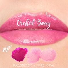 "Learn to mix it up. Use LipSense Mixology to create this ""Orchid Berry"" LipColor by pre-mixing Razzberry & Fire Opal.  Pre-mix and THEN apply color to attain this look.  #lipsense #mixitup"