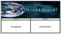 to appear - erscheinen German Vocabulary Builder Word Of The Day #42 ! Full audio practice at World Vocab™! https://video.buffer.com/v/56e2c71ba60fd48d0b042e10